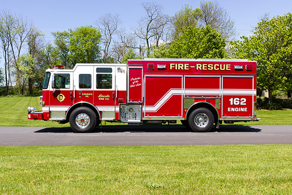 2016 Pierce Enforcer PUC - rescue pumper fire engine - driver side