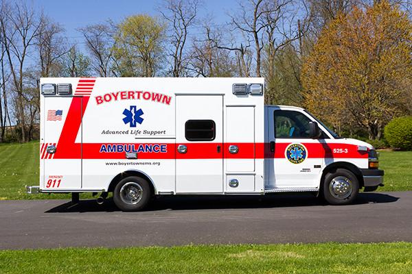2016 Braun Chief XL type III ambulance - Chevy G4500 - passenger side