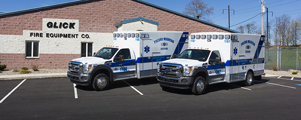 2016 Braun Express Plus Type I ambulance - Ford F450 4x4 - twin ambulances