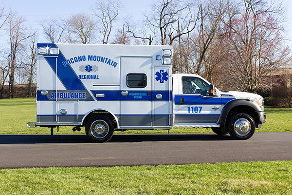 2016 Braun Express Plus Type I ambulance - Ford F450 4x4 - passenger side