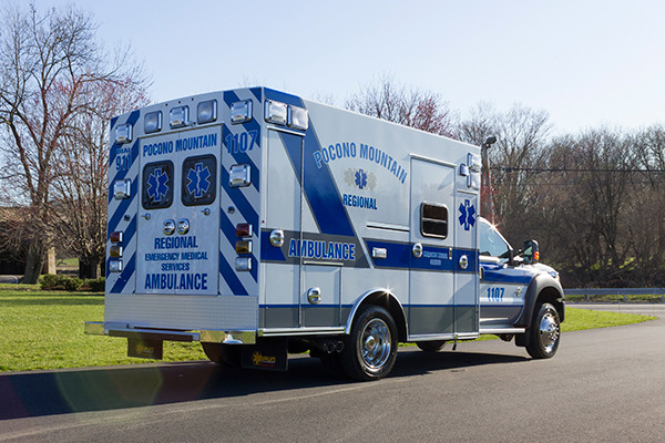 2016 Braun Express Plus Type I ambulance - Ford F450 4x4 - passenger rear
