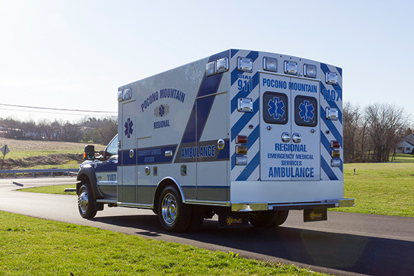 2016 Braun Express Plus Type I ambulance - Ford F450 4x4 - driver rear