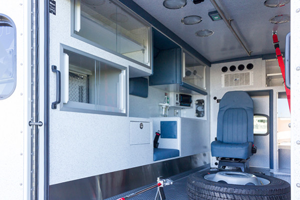 2016 Braun Express Plus Type I ambulance - Ford F450 4x4 - driver interior