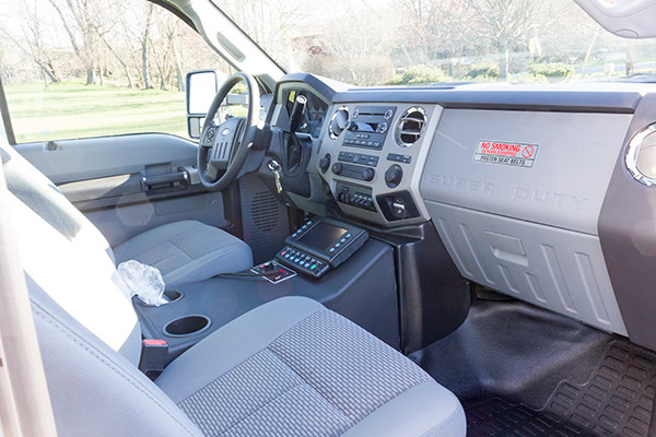 2016 Braun Express Plus Type I ambulance - Ford F450 4x4 - cab interior