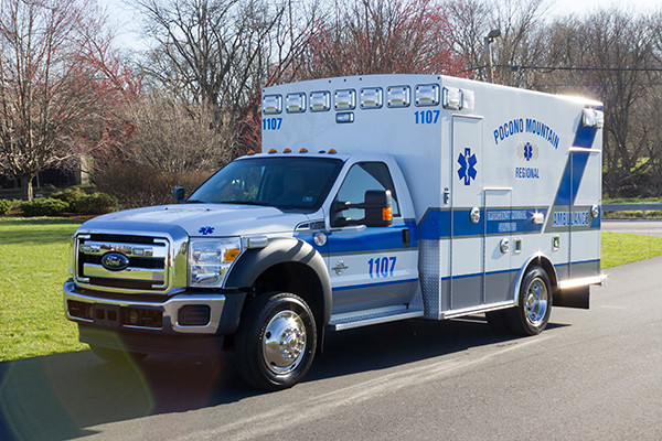 2016 Braun Express Plus Type I ambulance - Ford F450 4x4 - driver front