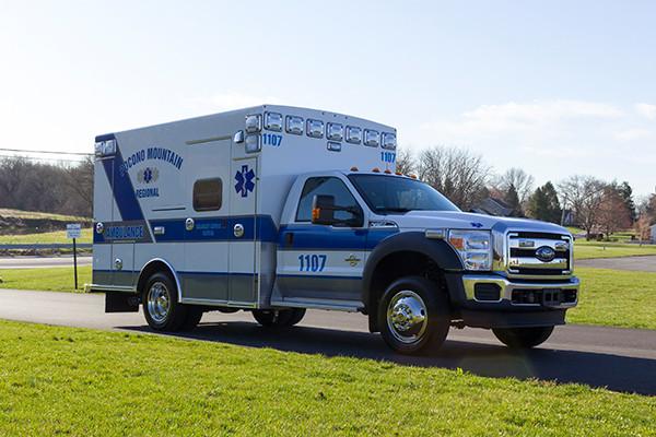 2016 Braun Express Plus Type I ambulance - Ford F450 4x4 - passenger front