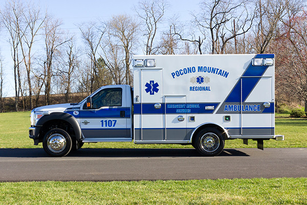 2016 Braun Express Plus Type I ambulance - Ford F450 4x4 - driver side