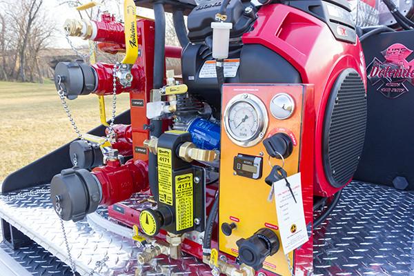 2016 Skid Pumper - Small Skid Pump Unit - pump panel close view