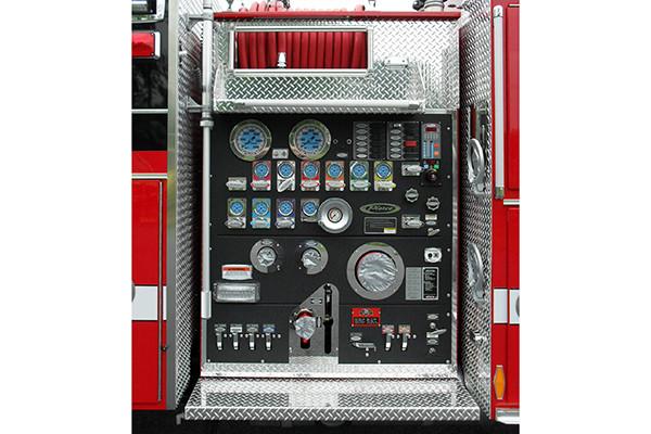 24348 Pierce Arrow XT pumper - Rohrerstown FC - pump panel
