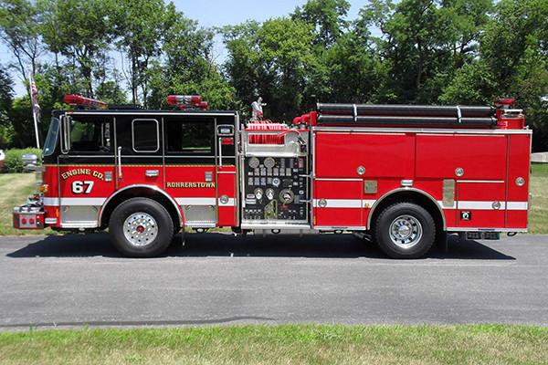 24348 Pierce Arrow XT pumper - Rohrerstown FC - driver side