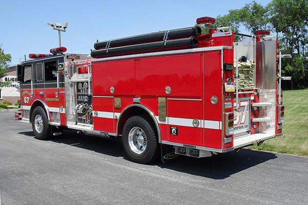 24348 Pierce Arrow XT pumper - Rohrerstown FC - driver rear
