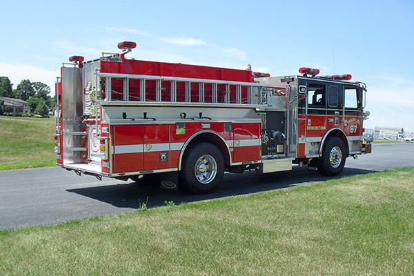24348 Pierce Arrow XT pumper - Rohrerstown FC - passenger rear