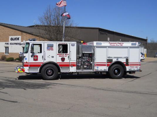29322 Pierce Enforcer custom pumper - fire engine - driver side