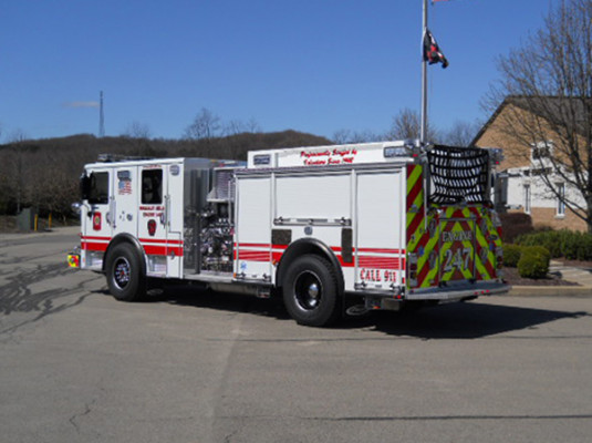 29322 Pierce Enforcer custom pumper - fire engine - driver rear