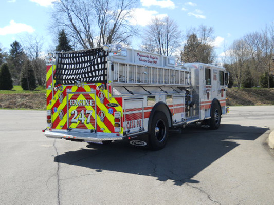 29322 Pierce Enforcer custom pumper - fire engine - passenger rear