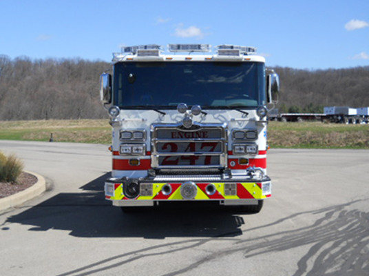 29322 Pierce Enforcer custom pumper - fire engine - front