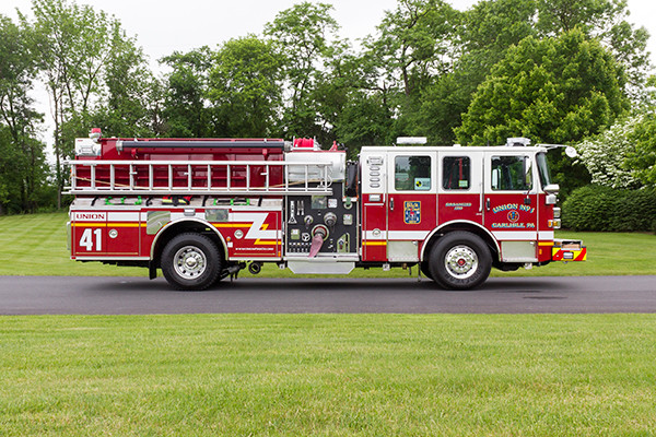 2016 Pierce Enforcer - pumper fire engine - passenger side
