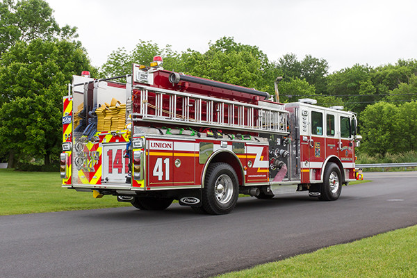 2016 Pierce Enforcer - pumper fire engine - passenger rear