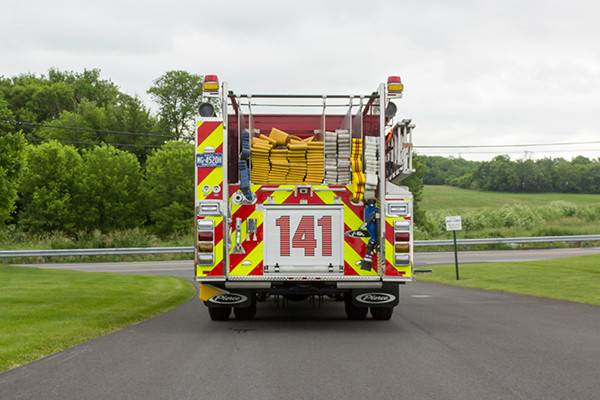 2016 Pierce Enforcer - pumper fire engine - rear low hose bed