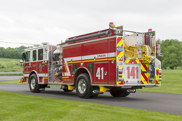 2016 Pierce Enforcer - pumper fire engine - driver rear