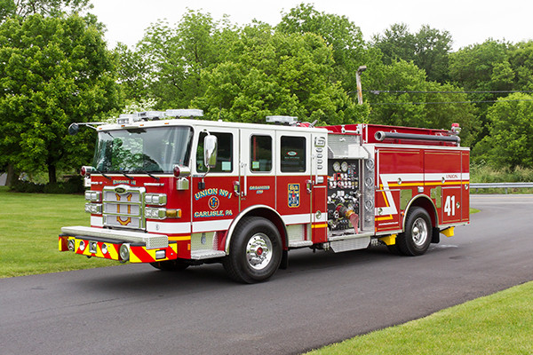 2016 Pierce Enforcer - pumper fire engine - driver front