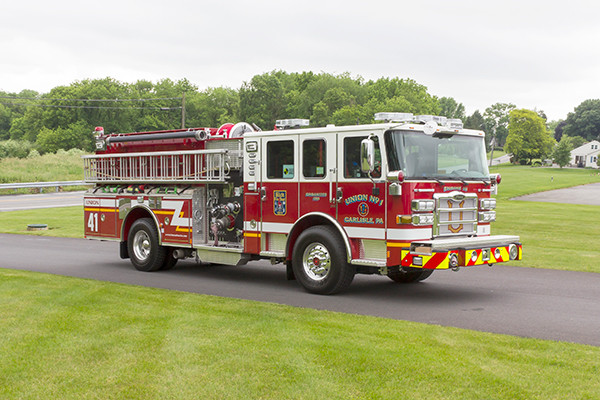 2016 Pierce Enforcer - pumper fire engine - passenger front