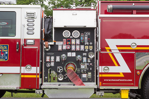 2016 Pierce Enforcer - pumper fire engine - pump control panel