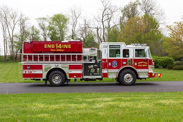 2016 Pierce Arrow XT custom pumper - fire engine - passenger side