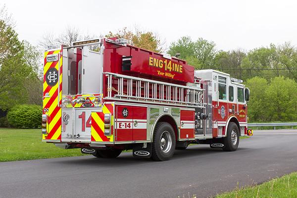 2016 Pierce Arrow XT custom pumper - fire engine - passenger rear