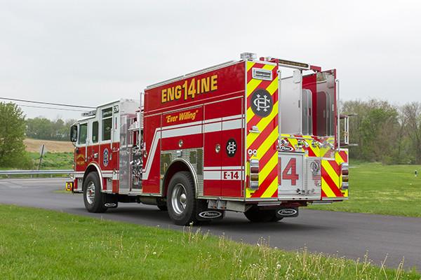 2016 Pierce Arrow XT custom pumper - fire engine - driver rear