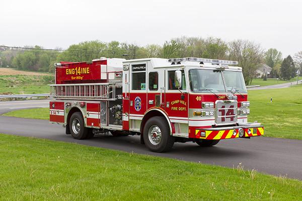 2016 Pierce Arrow XT custom pumper - fire engine - passenger front