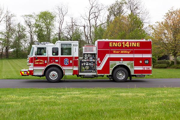 2016 Pierce Arrow XT custom pumper - fire engine - driver side