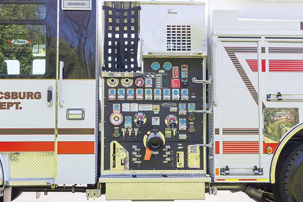 2016 Pierce Enforcer - pumper fire engine - pump control panel