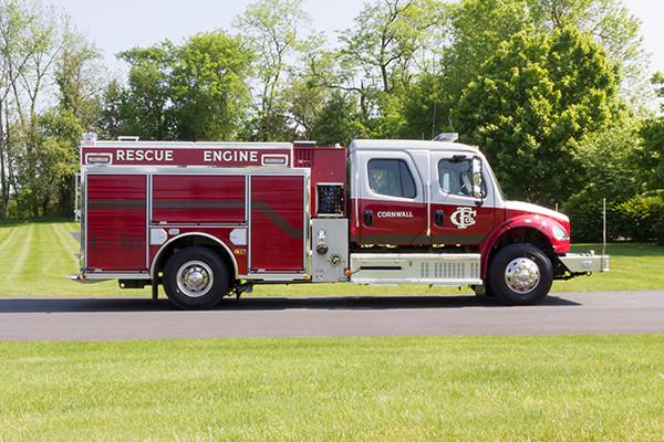 2016 Pierce Freightliner Responder commercial pumper - fire engine apparatus - passenger side