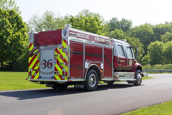 2016 Pierce Freightliner Responder commercial pumper - fire engine apparatus - passenger rear