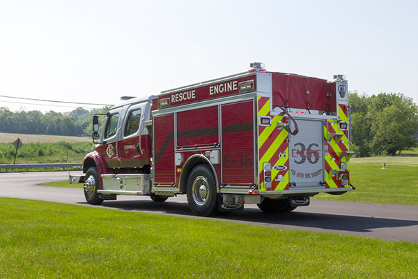 2016 Pierce Freightliner Responder commercial pumper - fire engine apparatus - driver rear