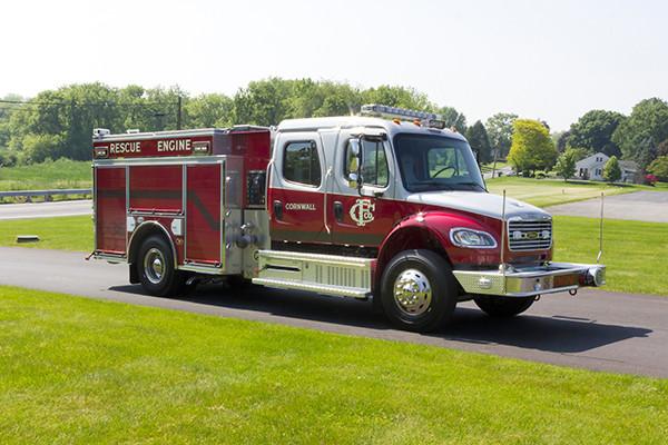2016 Pierce Freightliner Responder commercial pumper - fire engine apparatus - passenger front