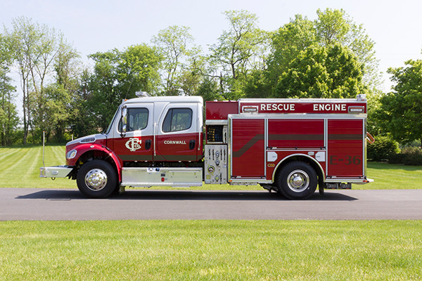 2016 Pierce Freightliner Responder commercial pumper - fire engine apparatus - driver side