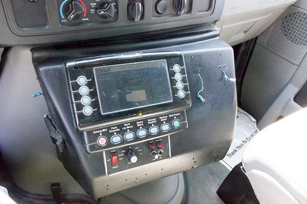 2016 Type I ambulance remount - Braun ambulance - cab console