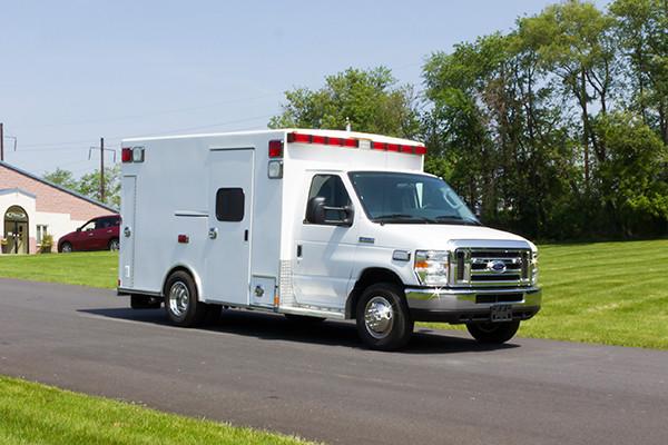 2016 Type I ambulance remount - Braun ambulance - passenger front