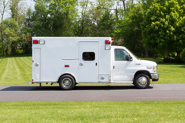 2016 Type I ambulance remount - Braun ambulance - passenger side