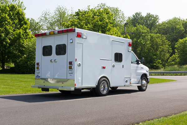2016 Type I ambulance remount - Braun ambulance - passenger rear