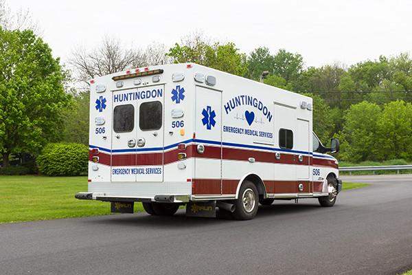 Braun Chief XL Type III ambulance - Huntingdon Ambulance Authority - passenger rear