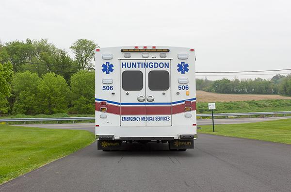 Braun Chief XL Type III ambulance - Huntingdon Ambulance Authority - rear