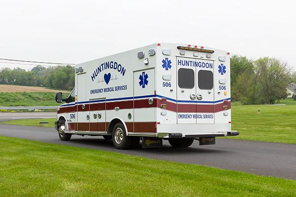 Braun Chief XL Type III ambulance - Huntingdon Ambulance Authority - driver rear