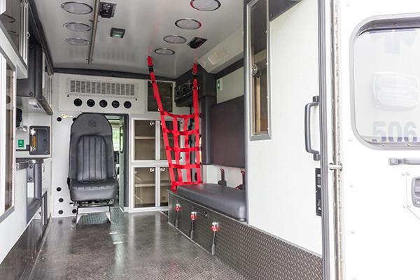 Braun Chief XL Type III ambulance - Huntingdon Ambulance Authority - passenger side interior