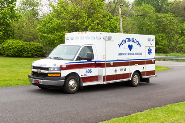 Braun Chief XL Type III ambulance - Huntingdon Ambulance Authority - driver front