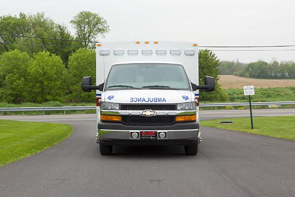 Braun Chief XL Type III ambulance - Huntingdon Ambulance Authority - front