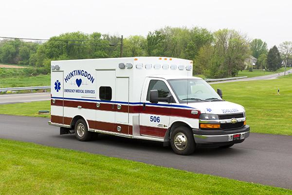 Braun Chief XL Type III ambulance - Huntingdon Ambulance Authority - passenger front