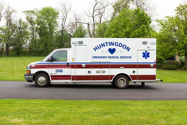 Braun Chief XL Type III ambulance - Huntingdon Ambulance Authority - driver side